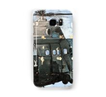 Helicopter Gunship with background  Samsung Galaxy Case/Skin