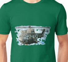 Helicopter Gunship with background  Unisex T-Shirt