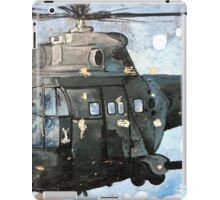 Helicopter Gunship with background  iPad Case/Skin