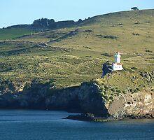 Otago Peninsula Lighthouse, Dunedin, NZ by Keith Richardson