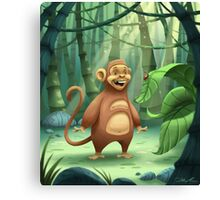 """Mogie"" The Monkey Canvas Print"