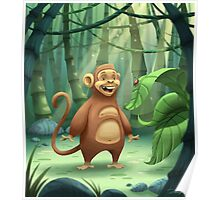 """Mogie"" The Monkey Poster"