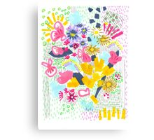 Floral Doodle 1 Canvas Print