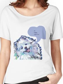 American Eskimo Bright Colorful Pop Art Women's Relaxed Fit T-Shirt