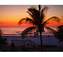 Tropical Beach Sunset Photographic Print