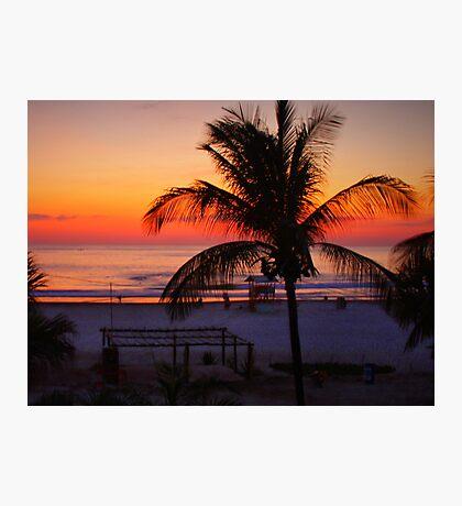 Tropical Beach Sunset Photographic Print