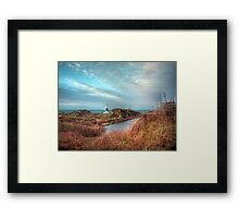Alderney's lighthouse Framed Print