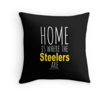 Home Is Where The Steelers Are Throw Pillow