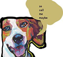 American Foxhound Bright Colorful Pop Dog Art by bentnotbroken11