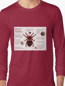 Infographic: Mexican redknee tarantula  Long Sleeve T-Shirt