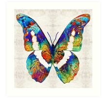 Colorful Butterfly Art by Sharon Cummings Art Print