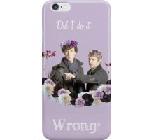 Johnlock in flowercrowns ** iPhone Case/Skin