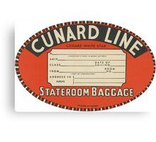 Vintage Luggage Label 1 Canvas Print