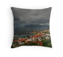 Sleepy Shores Throw Pillow