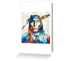 Native American Art - Warrior - By Sharon Cummings Greeting Card