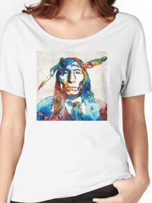 Native American Art - Warrior - By Sharon Cummings Women's Relaxed Fit T-Shirt