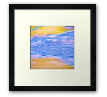 Atmospheric Layers with Beach Framed Print