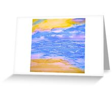 Atmospheric Layers with Beach Greeting Card