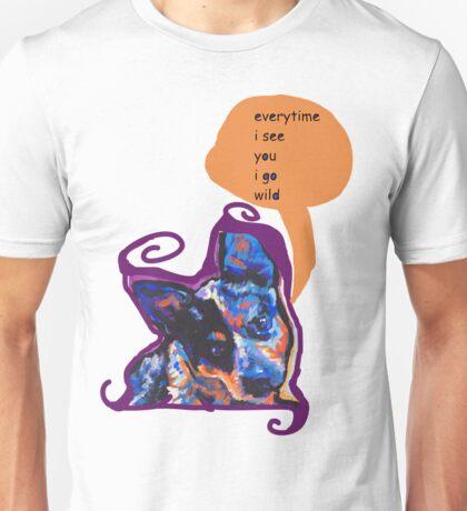 Australian Cattle Dog Bright colorful pop dog art Unisex T-Shirt