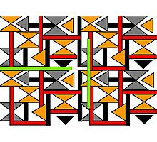 Bright Bold Modern Funky Geometric Abstract Graphic Photographic Print