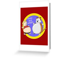 Calvin and Hobbes Fat Style Greeting Card