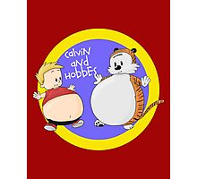 Calvin and Hobbes Fat Style Photographic Print