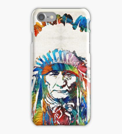 Native American Art - Chief - By Sharon Cummings iPhone Case/Skin