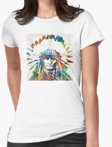 Native American Art - Chief - By Sharon Cummings Womens Fitted T-Shirt