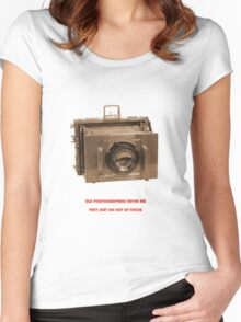 OLD PHOTOGRAPHER Women's Fitted Scoop T-Shirt
