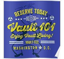 Reserve Today Vault 101 Enjoy Living!  - Fallout Poster
