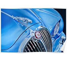 Classic Car in Blue Poster