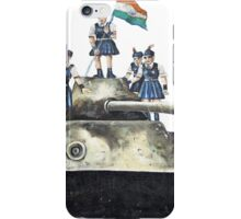 Schoolgirls on a tank iPhone Case/Skin