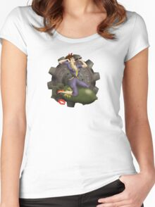 Vault Queen War Pinup Bombshell Women's Fitted Scoop T-Shirt