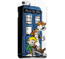 Calvin and Hobbes Doctor Who Style iPhone Case/Skin