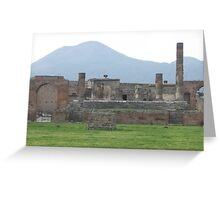 Mount Vesuvius and Pompeii, Italy Greeting Card