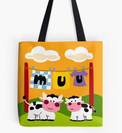 Laundy Cows Tote Bag