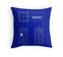 TARDIS Orthogonal Throw Pillow