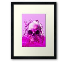 Purple Skull in Water Framed Print
