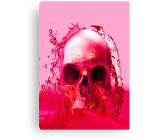 Red Skull in Water Canvas Print