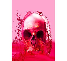 Red Skull in Water Photographic Print
