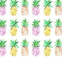 Watercolour Pineapples by emmaallardsmith