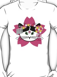 Cherry-blossom Cat T-Shirt