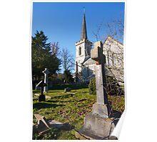 Church and churchyard Poster