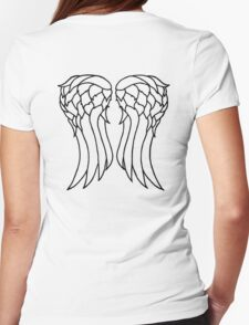 Daryl's Angel Wings Womens Fitted T-Shirt