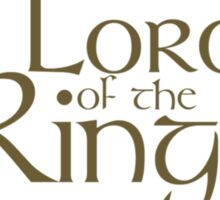 The Lord of the Rings... Sticker