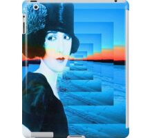Top hat with snow iPad Case/Skin
