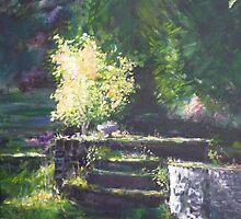 A quiet corner in the garden by lizzyforrester