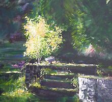 A quiet corner in the garden by lizzyforrester