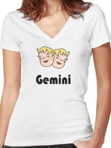 Gemini Women's Fitted V-Neck T-Shirt