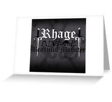 Rhage - [ the Black Dagger Brotherhood ] Greeting Card